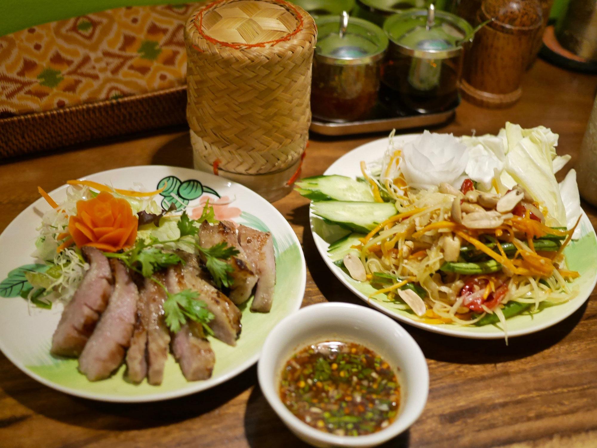 【京都のタイ料理屋】四条木屋町「熱帯食堂」で食べた『イサーンセット』